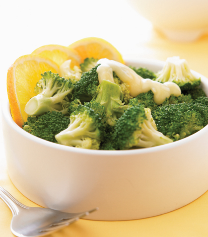 Brócoli con salsa de naranja