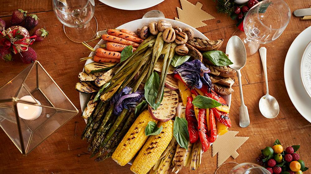 Cena navideña vegetariana
