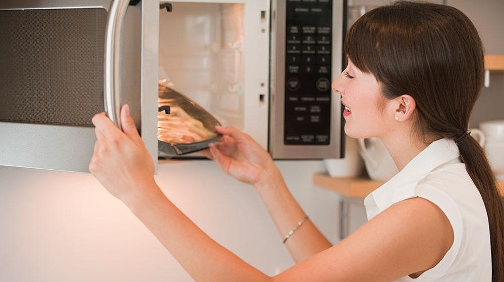Cocinar en microondas