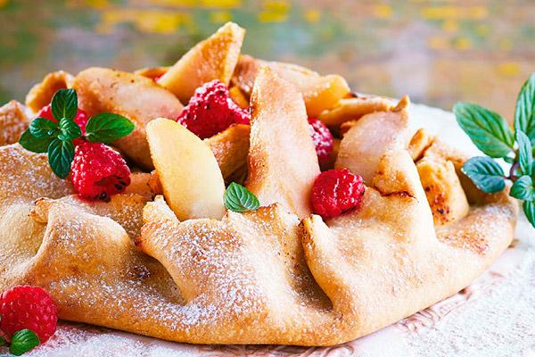 Crostata de peras y frambuesa