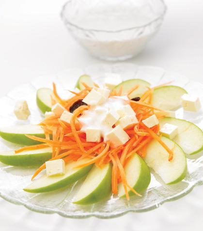 Ensalada de manzana con zanahoria