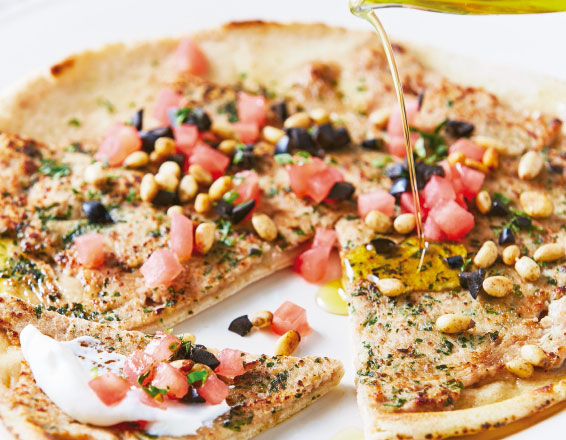 Pan árabe con carne molida