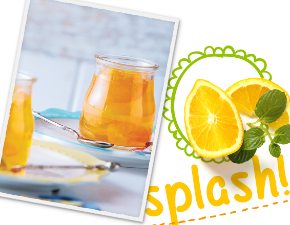 Gelatina de mandarina y naranja