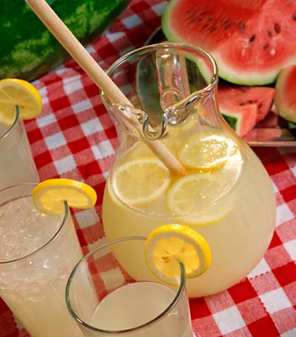 Limonada con sandía