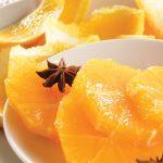 Naranjas con miel ligera de anís estrella