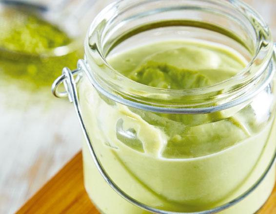 Natilla de té verde