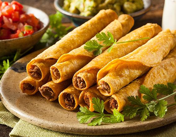 Recetas de comida: tacos dorados