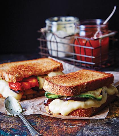 Sándwich con verduras