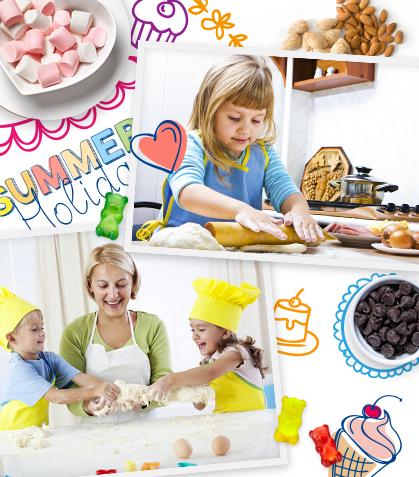 ¡Vivan las vacaciones! 10 recetas para cocinar con tus niños