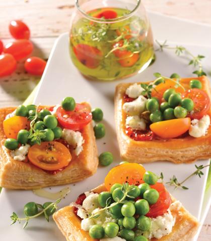 Tartas de verduras con queso