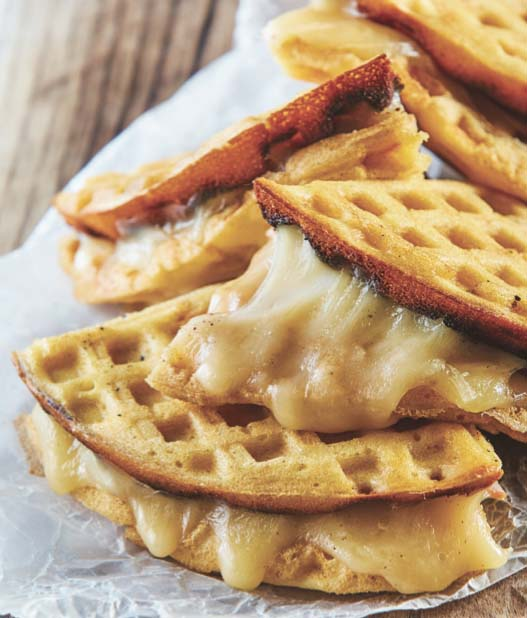 Waffles con queso