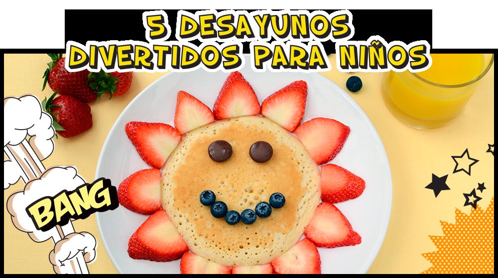 desayuno con frutas para niños