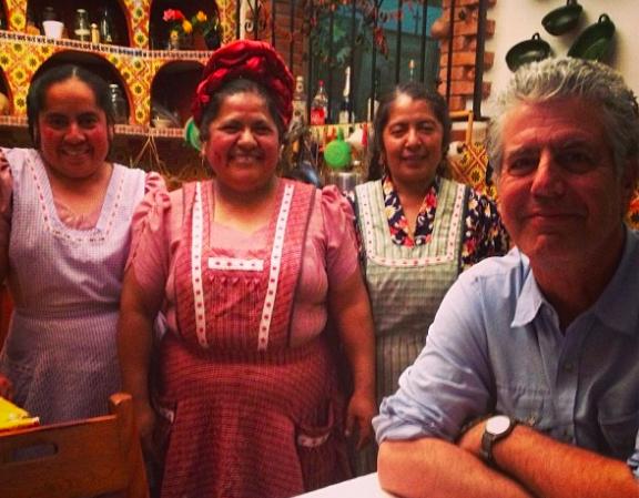 Anthony Bourdain y comida mexicana