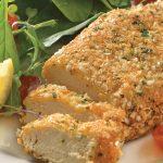 Pollo empanizado con quinoa