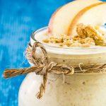 licuado de manzana, avena y plátano