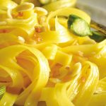 Pasta de maíz con espárragos sin gluten