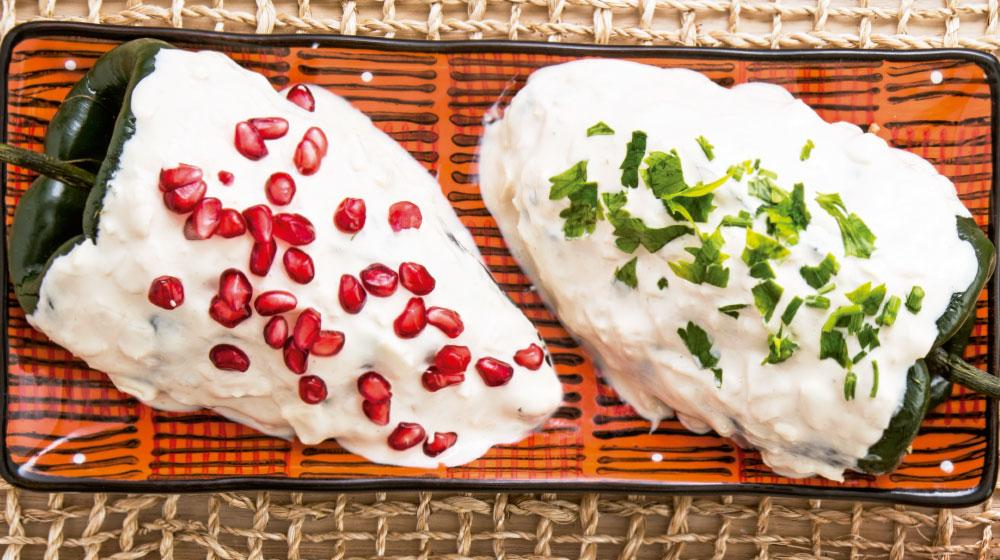 receta de chiles en nogada