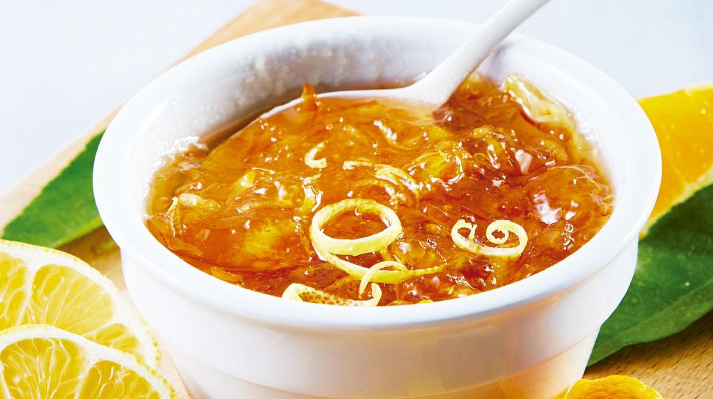Mermelada de limón amarillo con naranja