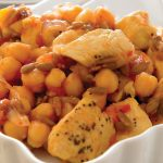 Pollo con garbanzos