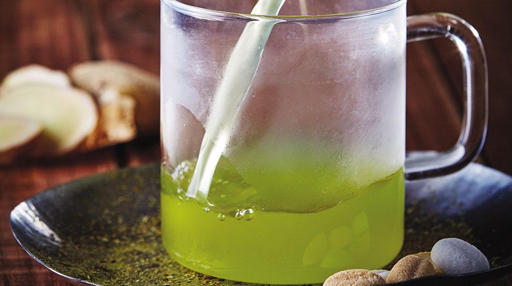 té verde con jengibre