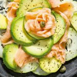 Ensalada de salmón con aguacate