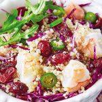 Ensalada de quinoa con camarón
