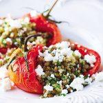 Ensalada de quinoa con jitomates rostizados