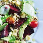 Ensalada tibia de vegetales con quinoa