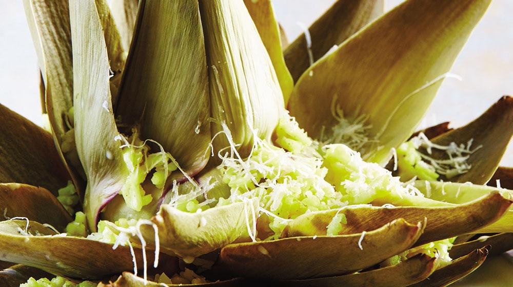 Alcachofa con arroz