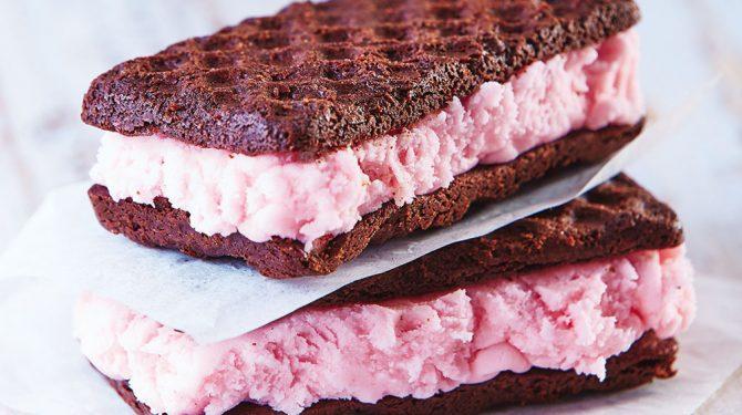 Barrita d¡con helado de fresa