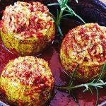 Calabacitas con carne en salsa de jitomate
