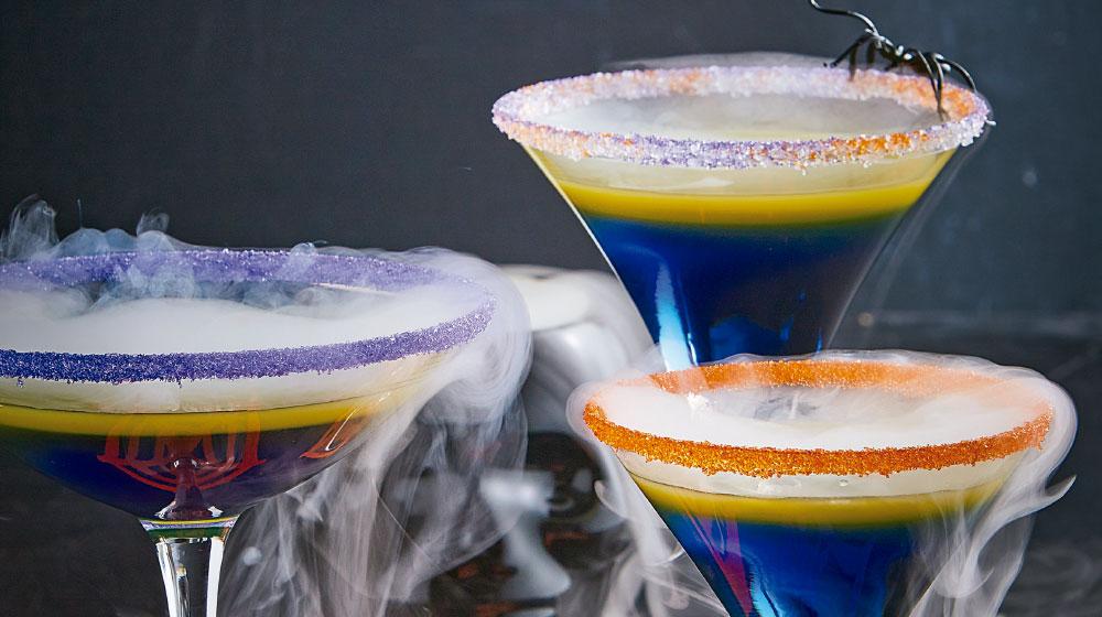 Coctel para Halloween con alcohol