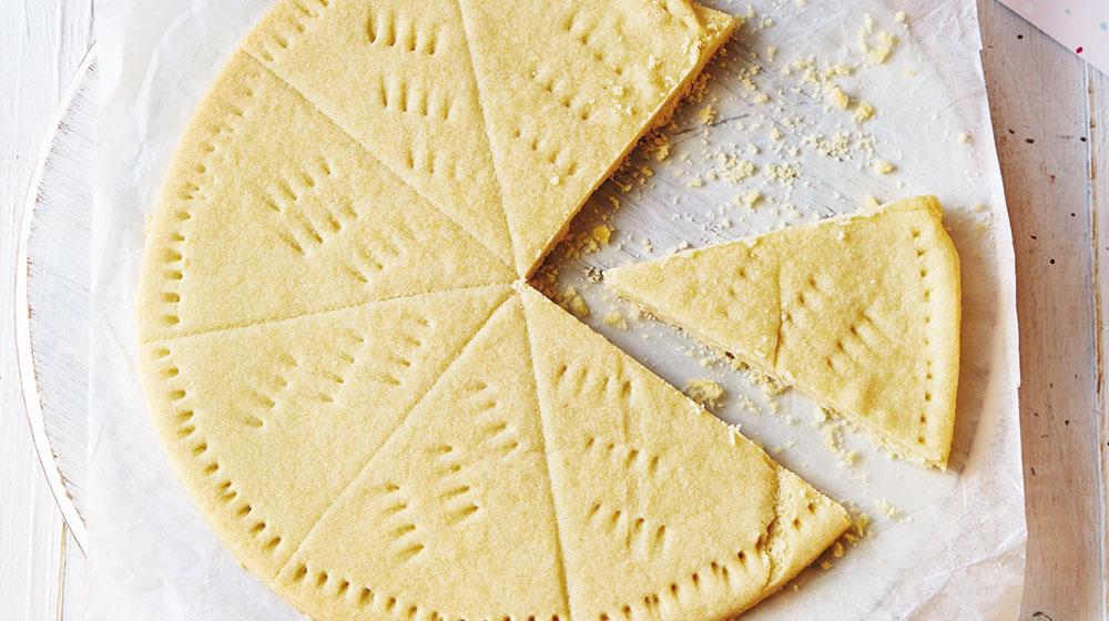 Galletas de mantequila en forma de pastel