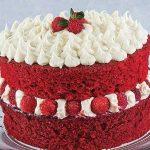 pastel red velvet navideño