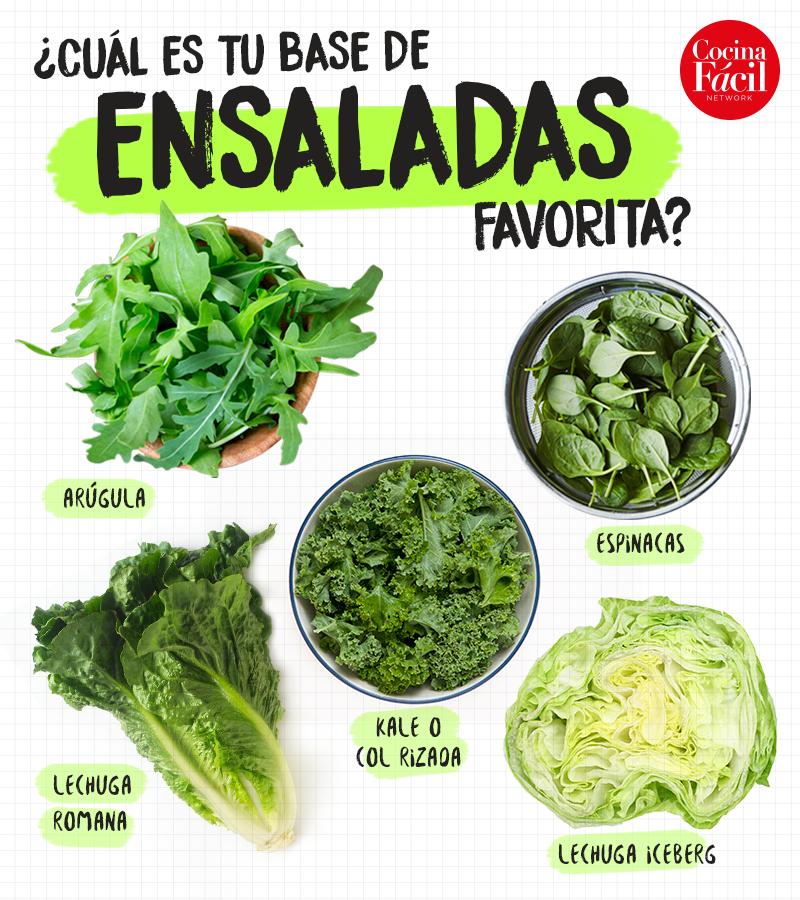 tipos de lechugas para ensaladas