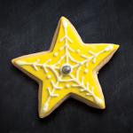 galleta de estrella amarilla