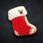galleta de bota navideña