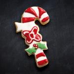 Galleta bastón navideño sabor almendra