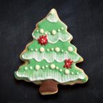 galleta de árbol de Navidad