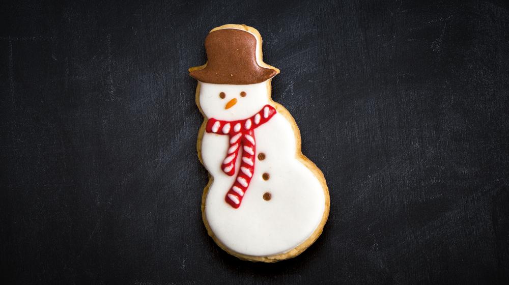 galleta muñeco de nieve navideño
