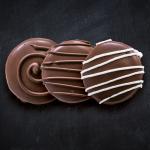 Galleta rellena de chocolate para Navidad