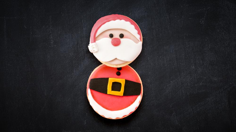 Galleta de Santa Claus sabor vainilla