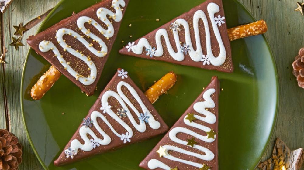 Brownies en forma de pinos
