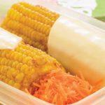 Elote preparado con queso manchego