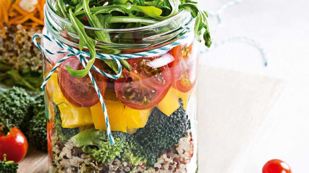 Ensalada dulce de quinoa
