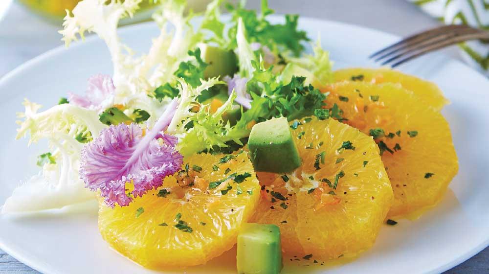 ensalada de naranja con aceite de habanero