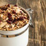 granola con arandanos