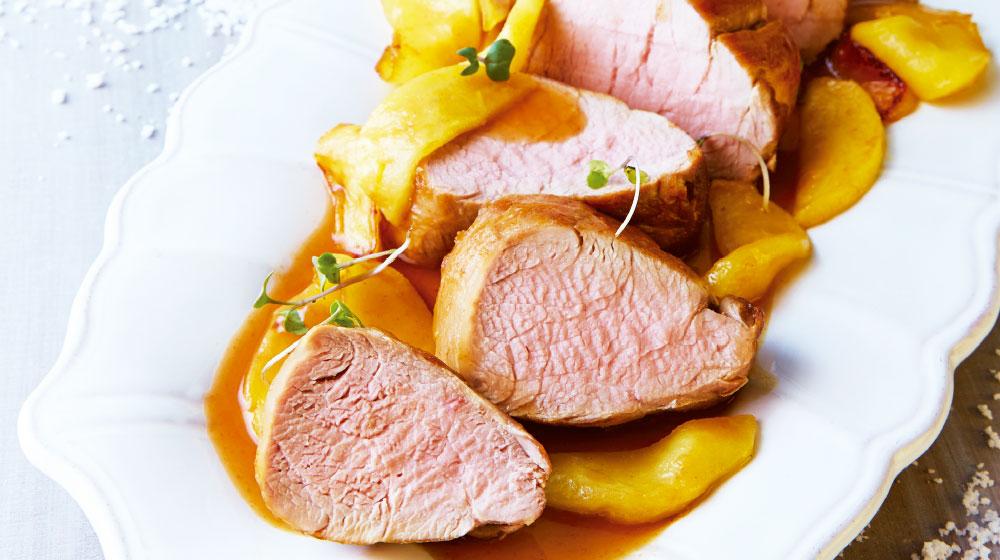 Lomo de cerdo con salsa de manzana