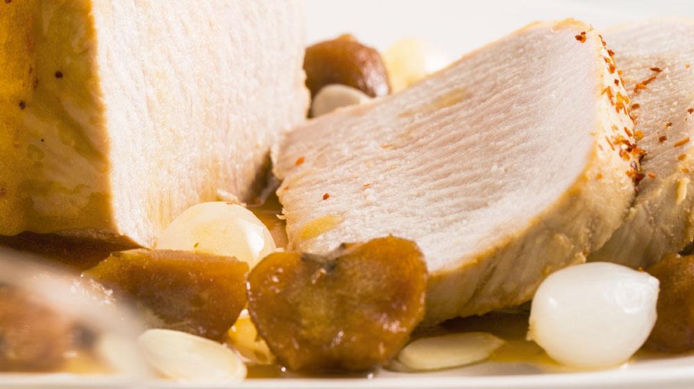 Cómo hacer lomo de cerdo en salsa de tejocote
