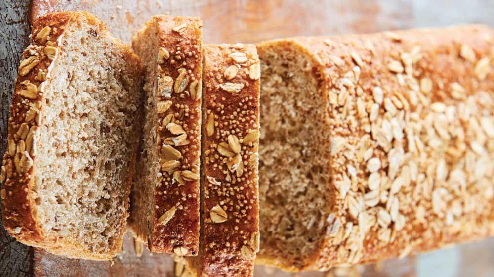 pan de granos con avena